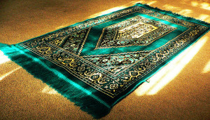 green prayer mat